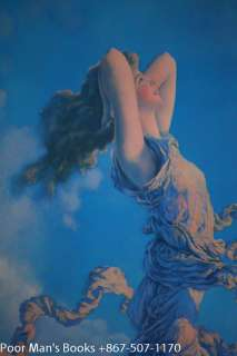 MAXFIELD PARRISH, ECSTASY, 1929 LARGE ART DECO OLD PRINT 1929