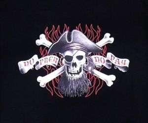 TT08 MEN DEATH GRIM REAPER SKULL SATAN PIRATE T SHIRT