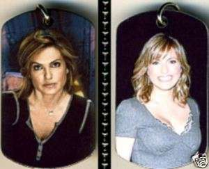 Mariska Hargitay 2 Sided Color Photo Dog Tag Necklace FREE 30 STEEL