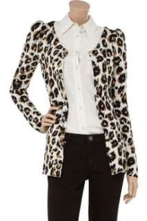 Emanuel Ungaro Animal print cashmere blend cardigan   75% Off Now at