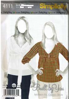 Classic Tops Modern Fit Simplicity Pattern Size 4 12