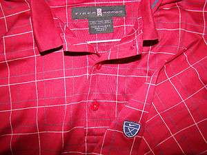 TIGER WOODS MENS NIKE GOLF POLO SHIRT SIZE XXL