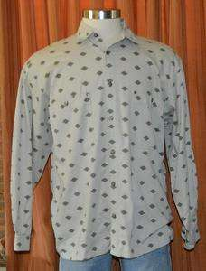 HARLEY DAVIDSON LONG SLEEVE GRAY TAN COTTON BUTTON DOWN HD SHIRT MENS