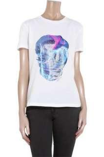 Alexander McQueens graphic skull print cotton T shirt is a statement