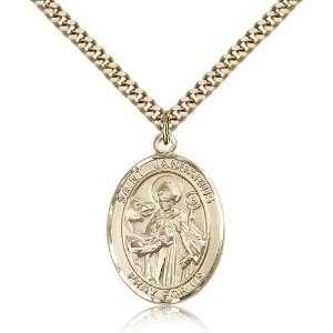 com Genuine IceCarats Designer Jewelry Gift Gold Filled St. Januarius
