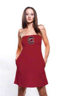 South Carolina Gamecocks Womens Cardinal Tube Dress with Pockets
