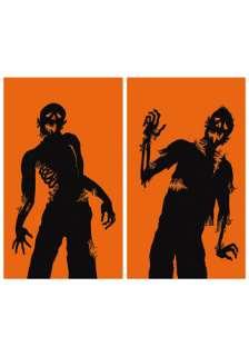 Home Halloween Decorations Door / Window Ghoulies Zombie Window Cling