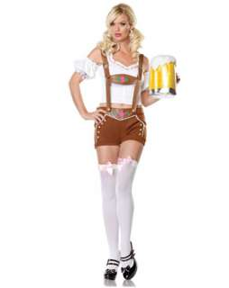Lederhosen Beer Girl Adult Costume  Sexy Beer Girl Halloween Costumes