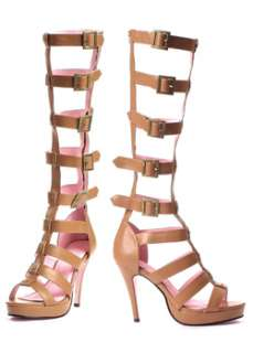 Multi Strap Knee High Sandal  Cheap Boots Halloween Costume for
