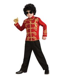 Red Michael Jackson Military Jacket Costume  Wholesale 80s Halloween