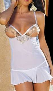 Accueil  Lingerie Sexy  Chemise Sexy  Blanc Open Cup Sexy Chemise
