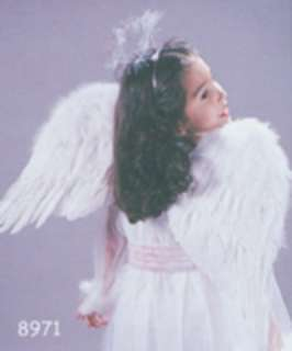 costumes in shopping cart angel wings feather child white