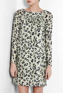 Leopard Print Silk Voile Smock Dress by A.P.C