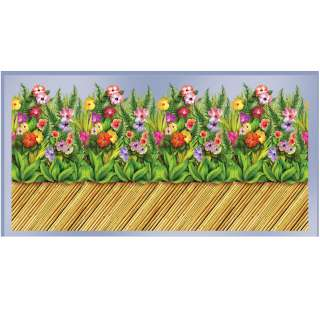 30 Tropical Flower & Bamboo Wall Border Roll   Includes 1 Tropical