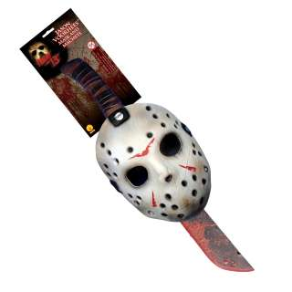 Friday the 13th 2009 Jason Mask & Machette Set   Includes Mask and