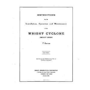 Wright R 1820 F Cyclone Aircraft Engine Maintenance Manual
