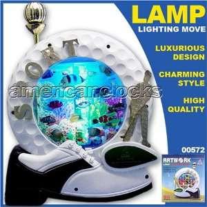 Animated Lamp with Lighted Fish Aquarium