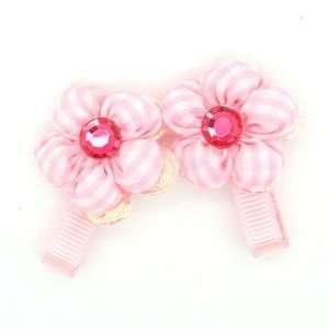 (Pink) Baby/ Toddler /Girl Flower Shaped Mini Hair Clip