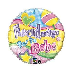Bebe Spanish 18 Mylar Foil Baby Shower Party Balloon