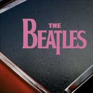 The Beatles Pink Decal Car Truck Bumper Window Pink