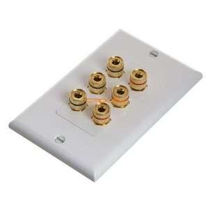 High Quality Banana Binding Post for 3 Speaker 6 Posts Electronics
