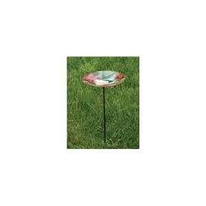 Evergreen Enterprises Birdbath Stake HummingBird Glass