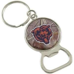 Chicago Bears Real Tree Camo Bottle Opener Keychain