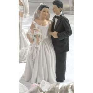Wedding Cake Topper Hispanic Bride & Groom Wedding Cake Topper
