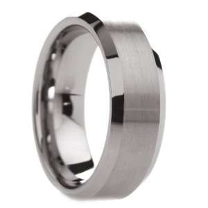 8 mm Mens Tungsten Carbide Rings Wedding Bands Brushed