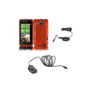 One S (T Mobile) Premium Combo Pack   Orange Hard Shield Case Cover