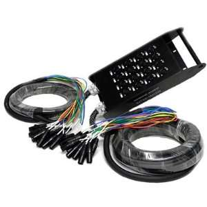 Seismic Audio   New 16 Channel XLR Send Splitter Snake Cable with Box