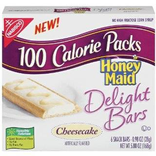 100 Calorie Packs Honey Maid Delight Bars, Cheesecake, 6 Count Bars