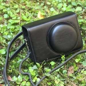 Black PU Leather Bag Case w/ Strap for Canon S90 S95 SX120