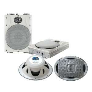 Subwoofer System   AQ69CXS 500 Watts 6X9 2 Way Marine Speakers