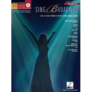 Sing Broadway   Pro Vocal Womens Edition Volume 45   Book & CD