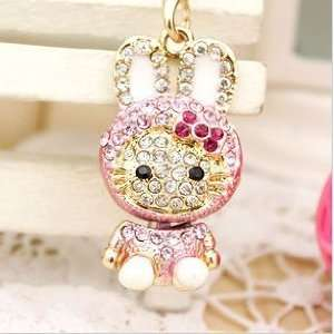 Crystal Diamond Hello Kitty Phone Charms Cell Phones & Accessories