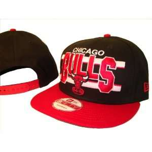 Bulls New Era 9Fifty Black & Red Adjustable Snap Back Baseball Cap Hat