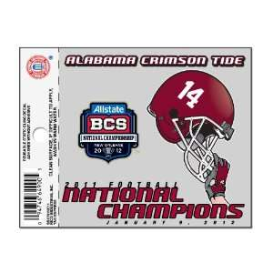 NCAA Alabama Crimson Tide 2011 BCS Champions Small Static