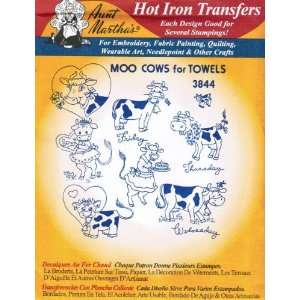 Moo Cows for Towels Aunt Marthas Hot Iron Embroidery