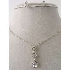 Fashion Jewelry ~ Cubic Zirconia Necklace Set