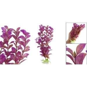 Como 10 Inch Plastic Decor Grass Fish Tank Ornament Purple