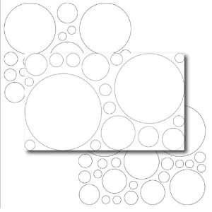 67 Large White Polka Dot Wall Transfers Baby