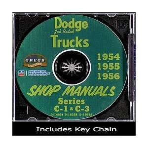 1956 Dodge Truck Shop Service Repair Manual CD (with Key Chain) Dodge
