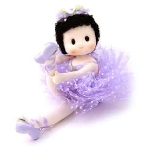 Tutu Ballerina Collectible Musical Doll   Purple  Home