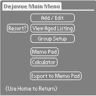 Dejavue: Software