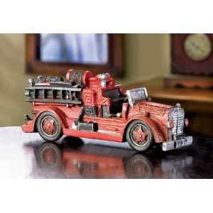 Antique  Large Vintage Fire Engine Model  Kitchen