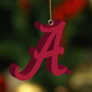 of 4 NCAA Alabama Crimson Tide 3 D Christmas Ornaments