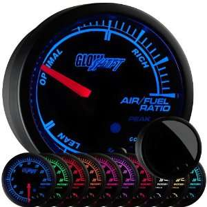 GlowShift Elite 10 Color Air / Fuel Ratio Gauge Automotive