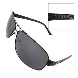 Arms Rectangle Lens Metal Full Rim Sunglasses