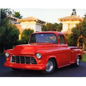 1956 Red Chevy Pickup Truck   Photography Poster   16 x 20